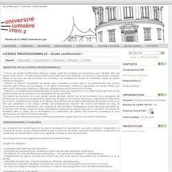 Formations de l'Université Lumière Lyon 2