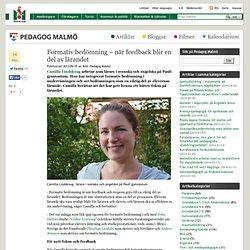 Formativ bedömning – när feedback blir en del av lärandet – Pedagog Malmö