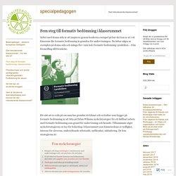 Fem steg till formativ bedömning i klassrummet