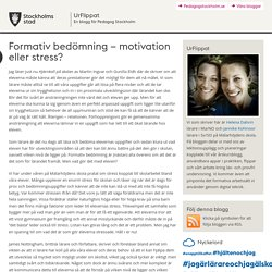 Formativ bedömning – motivation eller stress?