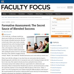 Formative Assessment: The Secret Sauce of Blended Success