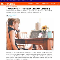 How to Do Formative Assessment in Distance Learning