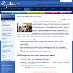 Formative Assessment Tech Tools - Keystone Area Education Agency