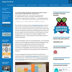 Formative Assessment with Hexagonal Learning