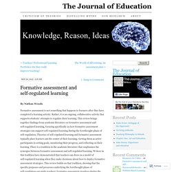 Formative assessment and self-regulated learning