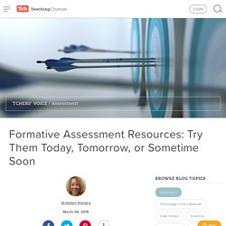 Formative Assessment Tools & Resources
