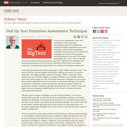 Dial Up Your Formative Assessment Technique