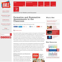 Formative and Summative Assessments in the Classroom