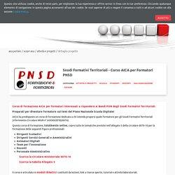 Snodi Formativi Territoriali - Corso AICA per Formatori PNSD - Dettaglio Progetto