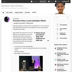 Formativt fokus i Lund med Dylan Wiliam - Nyheter från Unikum