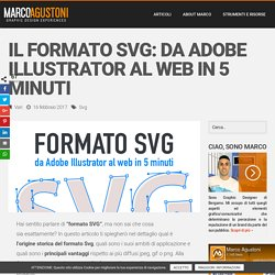 Il formato SVG: da Adobe Illustrator al web in 5 minuti