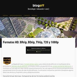 Formatos HD: BRrip, BDrip, TVrip, 720 y 1080p