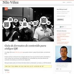 Guía de formatos de contenido para códigos QR - Nilo Vélez - blog personal