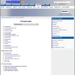 Formats audio - Musique - MP3