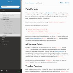 Path Formats — beets 1.3.14 documentation
