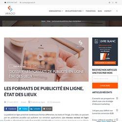 Les formats de publicité en ligne, état des lieux - Araoo