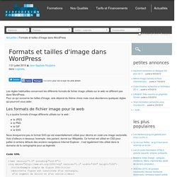 Formats et tailles d'image dans Wordpress - Video Design Formation