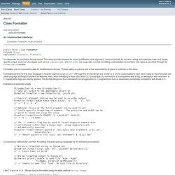 Formatter (Java Platform SE 7 )