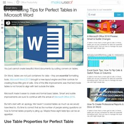 8 Formatting Tips for Perfect Tables in Microsoft Word
