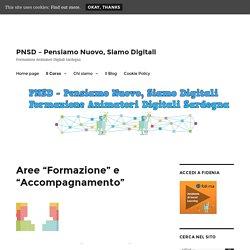 """PNSDSardegna - Aree """"Formazione"""" e """"Accompagnamento"""""""