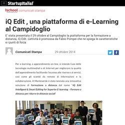 Formazione online, al Campidoglio si presenta iQ Edit