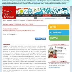 Formazione - Il Coping Power in classe- Erickson ROMA