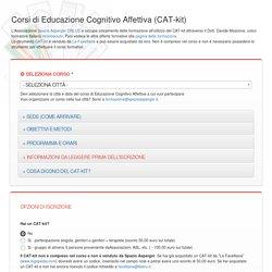 Corso di Formazione - Educazione Cognitivo Affettiva (CAT-kit)