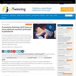 Formazione eTwinning, dal 21 marzo un corso online per muovere i primi passi in piattaforma - eTwinning Italia