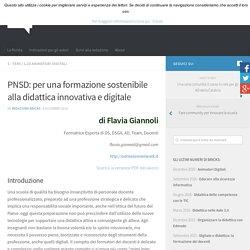 PNSD: per una formazione sostenibile alla didattica innovativa e digitale – BRICKS