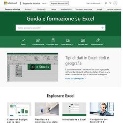 Guida e formazione su Excel - Supporto tecnico Microsoft
