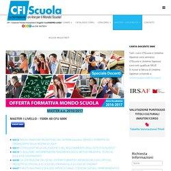 CFIScuola - Formazione e Corsi on-line per la Scuola - MASTER / UNIVERSITA'