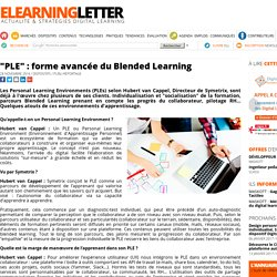 """PLE"" : forme avancée du Blended Learning"