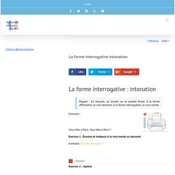La forme interrogative intonation