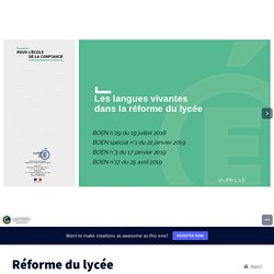 Réforme du lycée by williamt06 on Genially