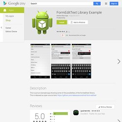 FormEditText Library Example - Aplicaciones Android en Google Play