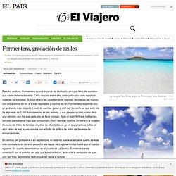Formentera, gradación de azules
