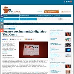 Former aux humanités digitales - That Camp