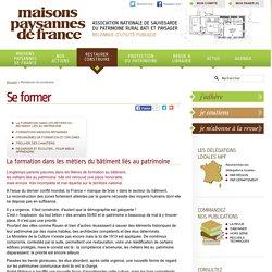 Se former - Maisons Paysannes de France