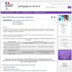 Se former Hist-Géo cycle 4 - Mooc HG5 Faire une narration multimedia