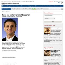 Rites set for former World reporter - Tulsa World: Obituaries