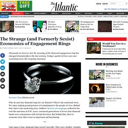 The Strange (and Formerly Sexist) Economics of Engagement Rings
