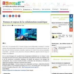 Formes et enjeux de la collaboration numérique