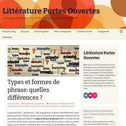 Types et formes de phrase: quelles différences ?