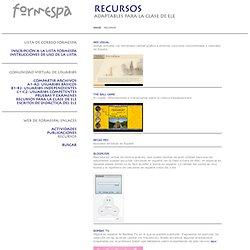 FORMESPA: RECURSOS