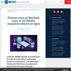 Formez-vous au Big Data avec le 1er Master européen délivré en ligne