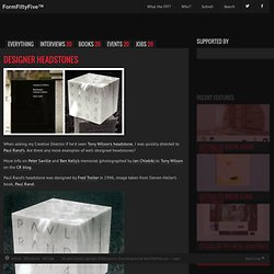 Design inspiration from around the world » Blog Archive » Designer headstones