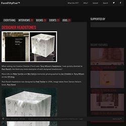 Design inspiration from around the world » Blog Archive » Designer headstones