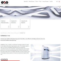 FORMIGA P 110 - laser sintering 3D printer for rapid prototyping – EOS