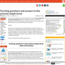 Forming questions and answers in the present simple tense