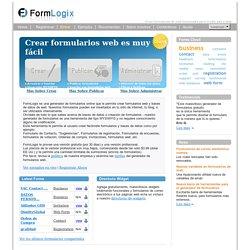 FormLogix Construir Formularios Web Gratis - Crear Formularios Web
